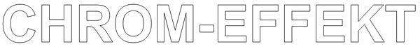 Vorzeichnung für das brushen von Chromeffekten